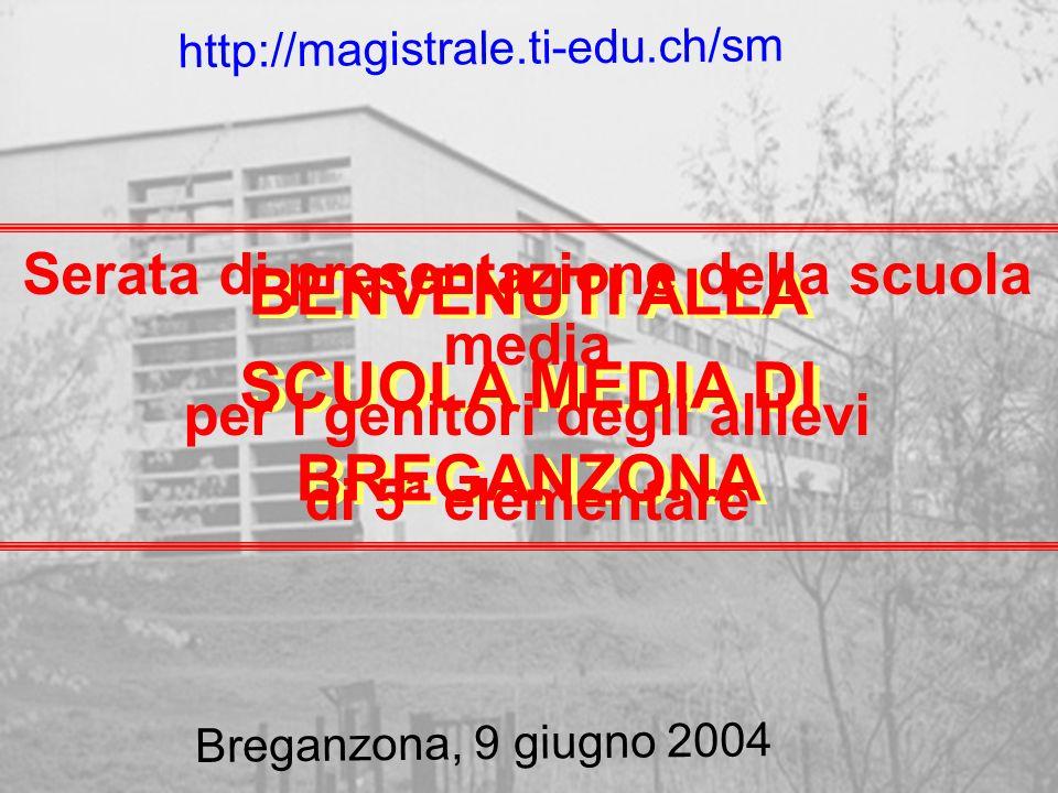 BENVENUTI ALLA SCUOLA MEDIA DI BREGANZONA