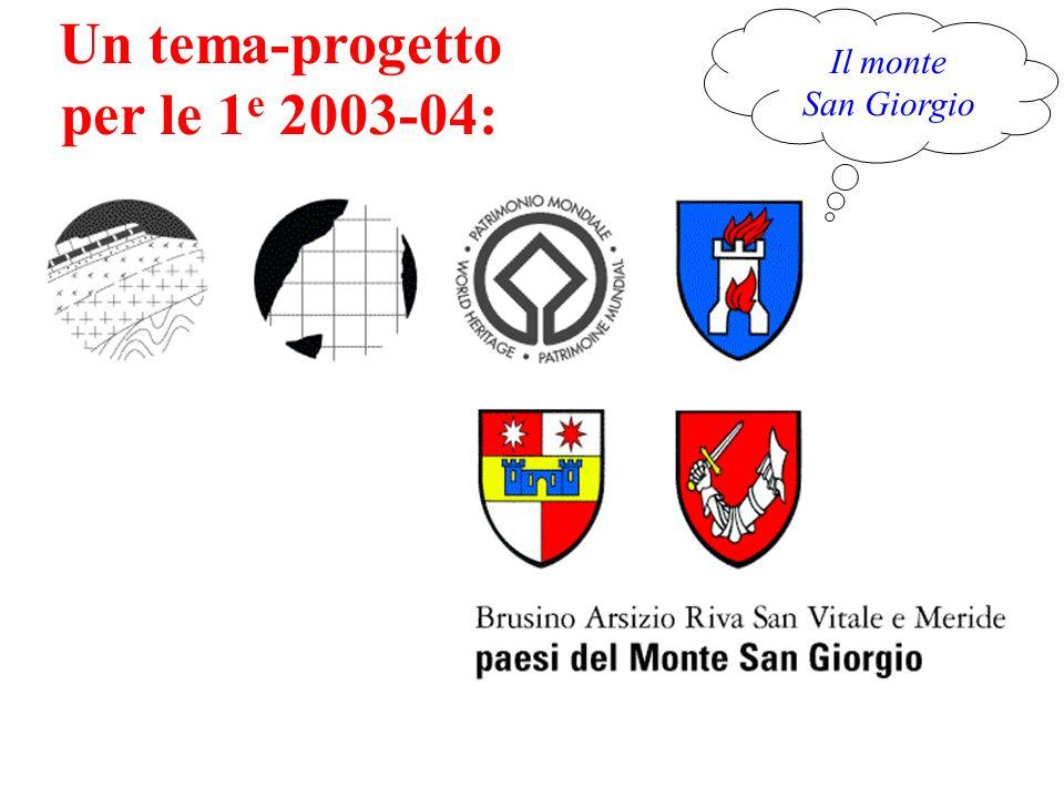 Un tema-progetto per le 1e 2003-04:
