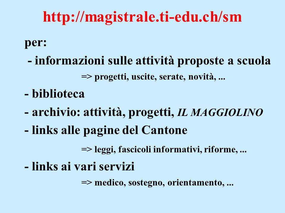 http://magistrale.ti-edu.ch/sm per: