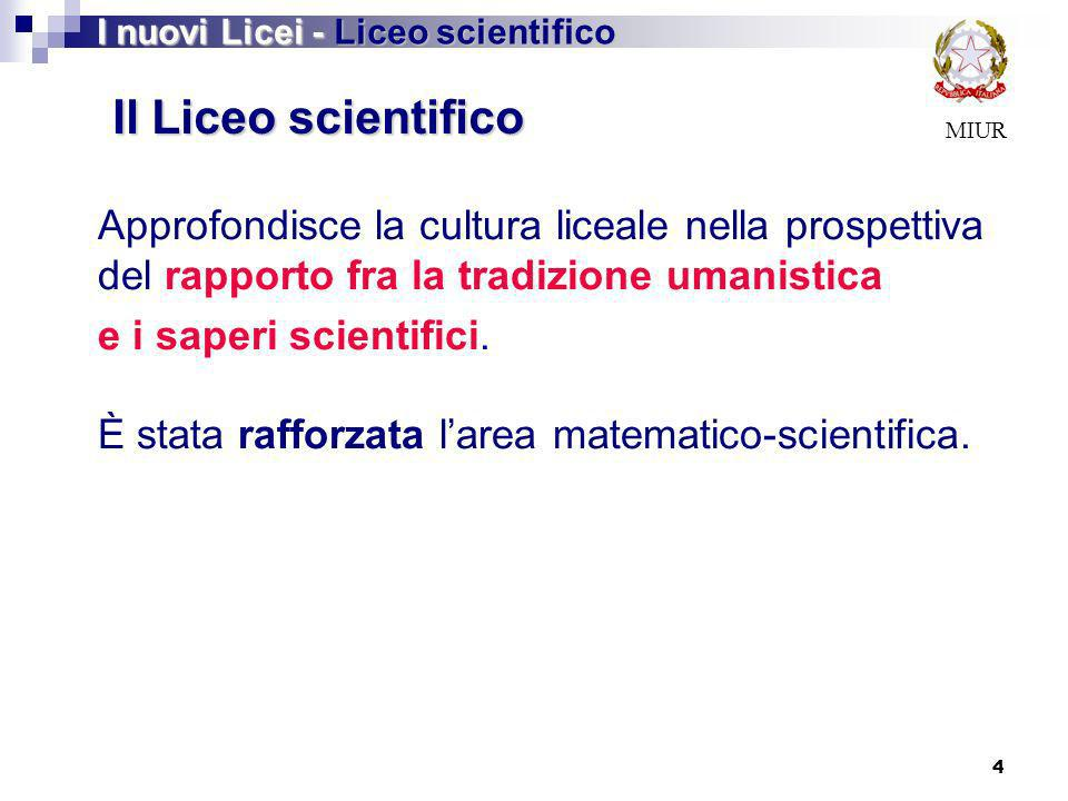 I nuovi Licei - Liceo scientifico