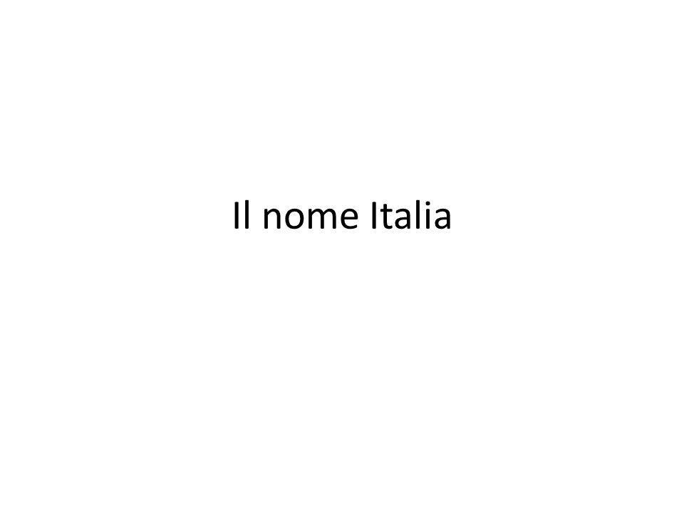 Il nome Italia