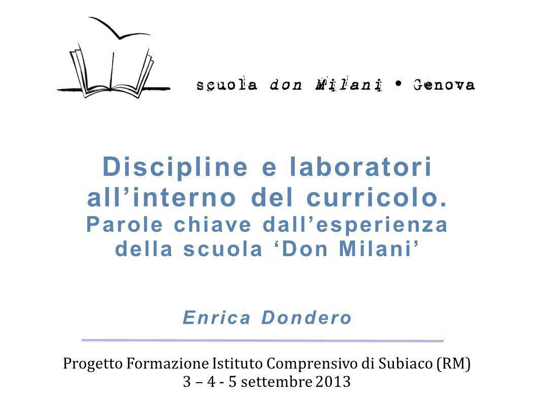 Progetto Formazione Istituto Comprensivo di Subiaco (RM)