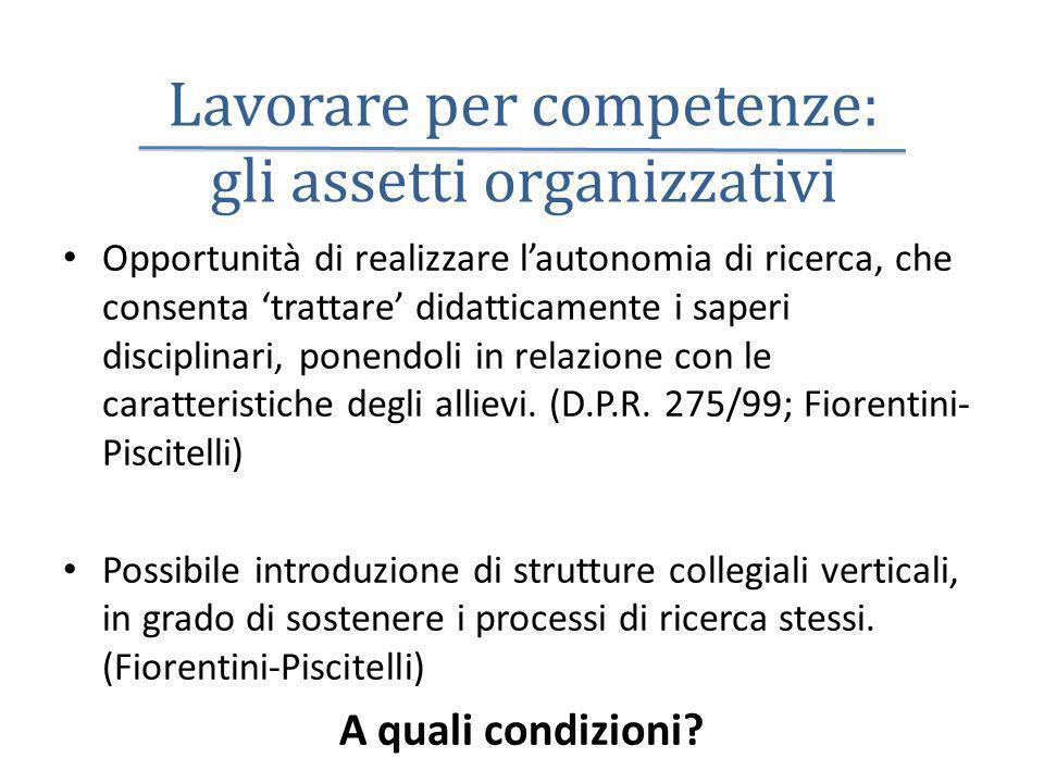 Lavorare per competenze: gli assetti organizzativi