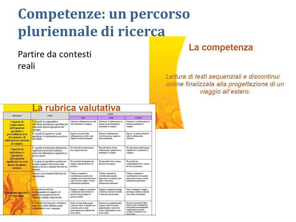 Competenze: un percorso pluriennale di ricerca