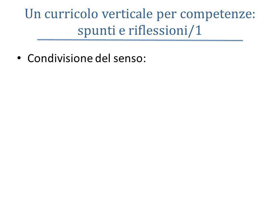 Un curricolo verticale per competenze: spunti e riflessioni/1