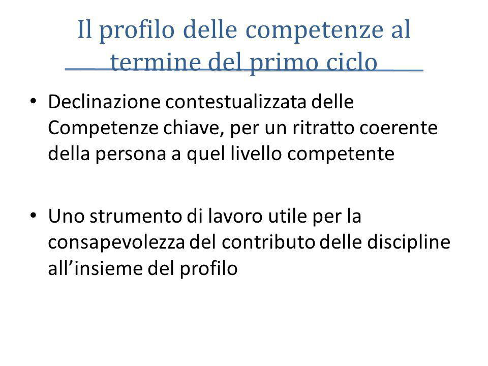 Il profilo delle competenze al termine del primo ciclo