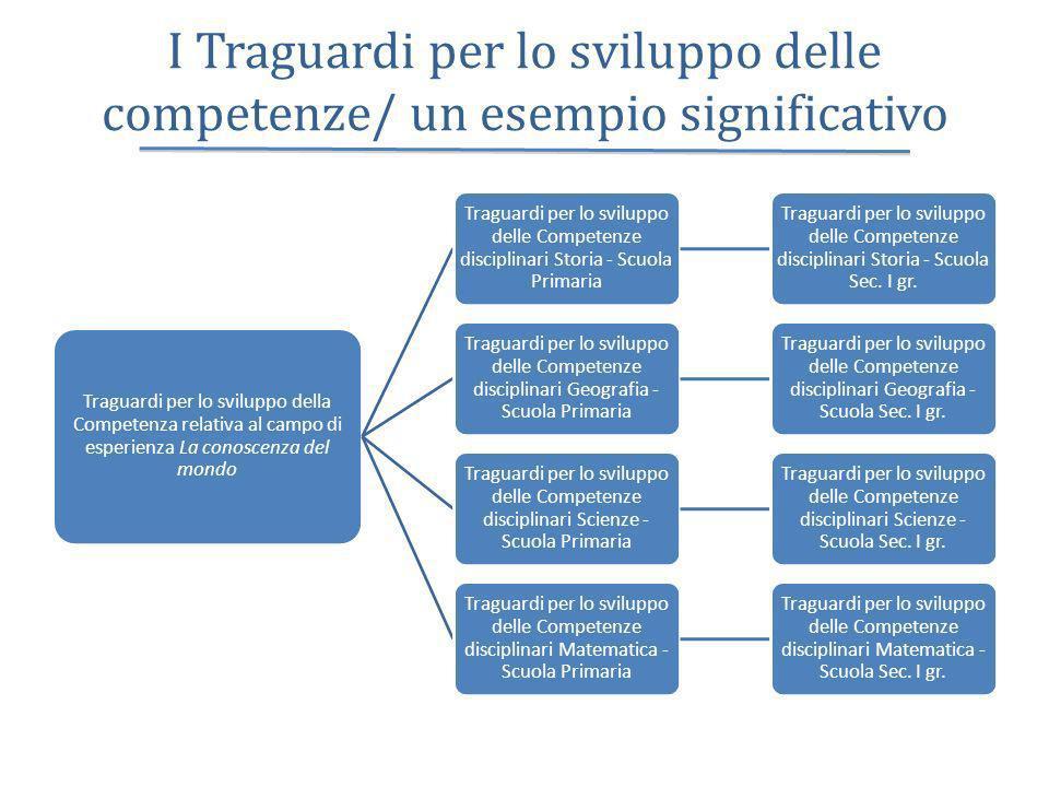 I Traguardi per lo sviluppo delle competenze/ un esempio significativo