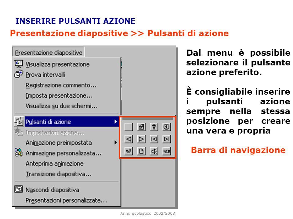 Presentazione diapositive >> Pulsanti di azione