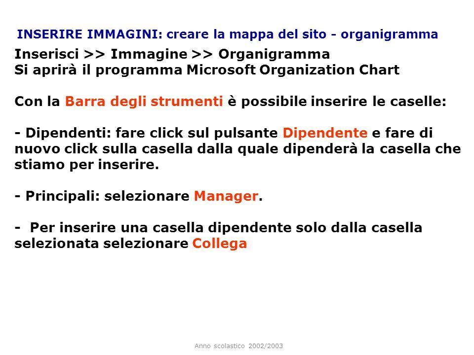 Inserisci >> Immagine >> Organigramma