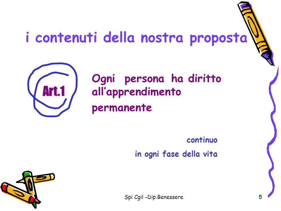 i contenuti della nostra proposta