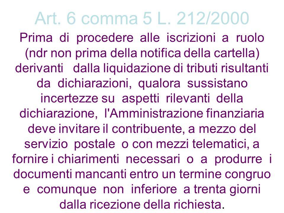 Art. 6 comma 5 L. 212/2000