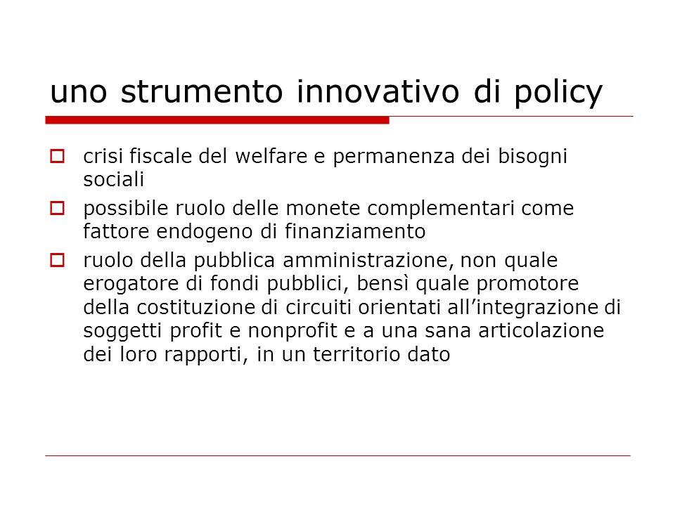 uno strumento innovativo di policy