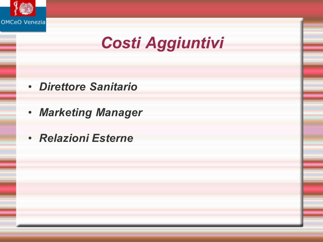 Direttore Sanitario Marketing Manager Relazioni Esterne