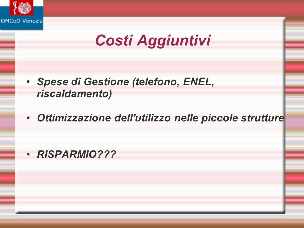 Costi Aggiuntivi Spese di Gestione (telefono, ENEL, riscaldamento)
