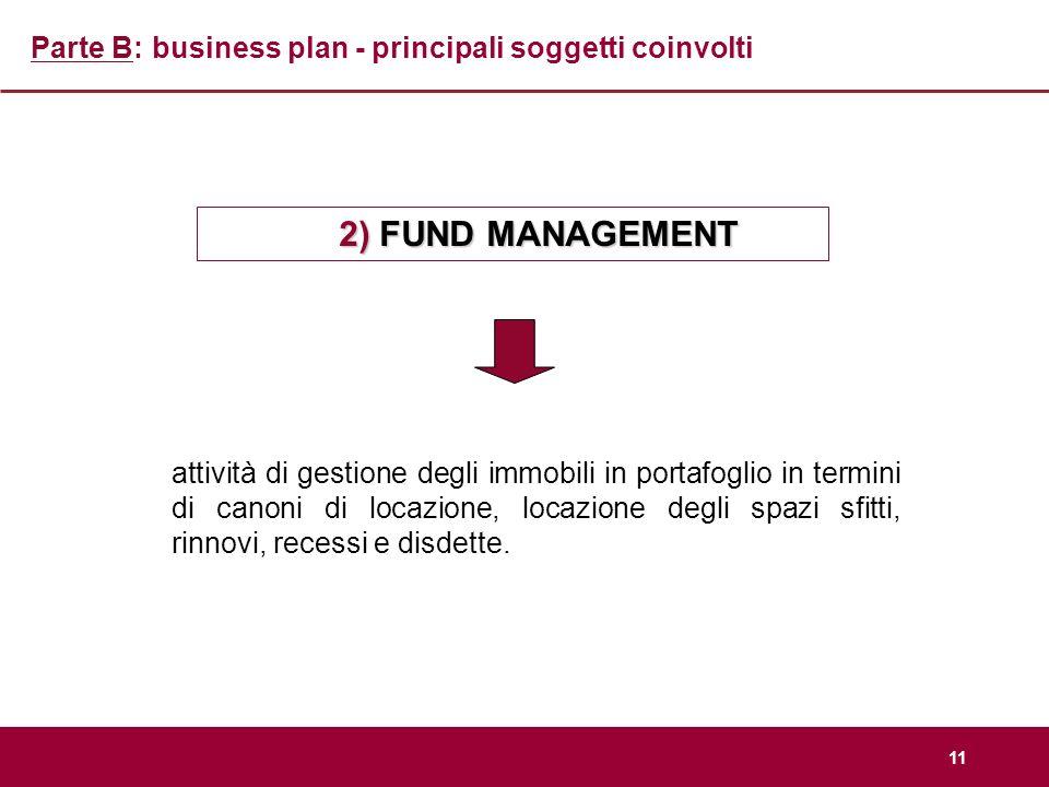 Parte B: business plan - principali soggetti coinvolti