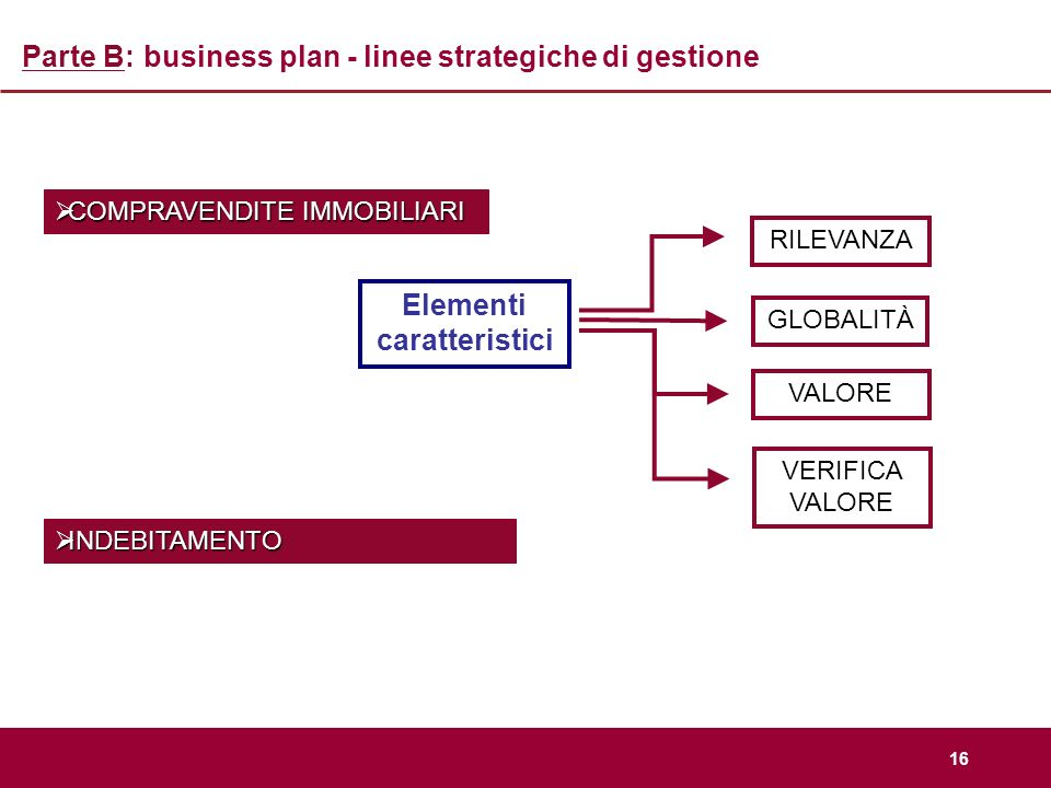 Parte B: business plan - linee strategiche di gestione