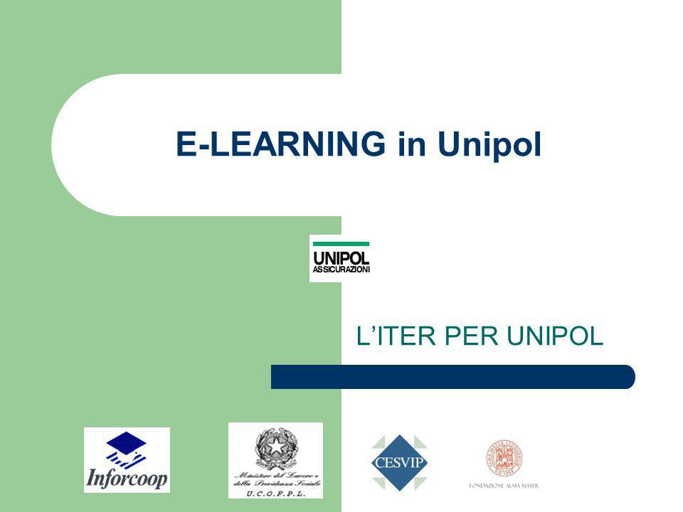 E-LEARNING in Unipol L'ITER PER UNIPOL