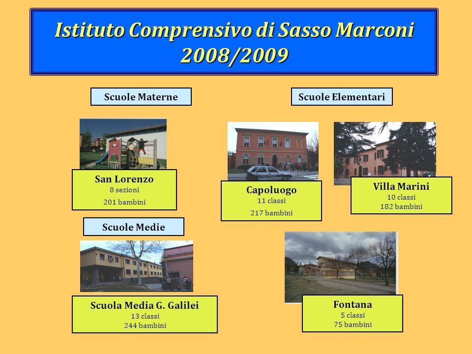 Istituto Comprensivo di Sasso Marconi 2008/2009