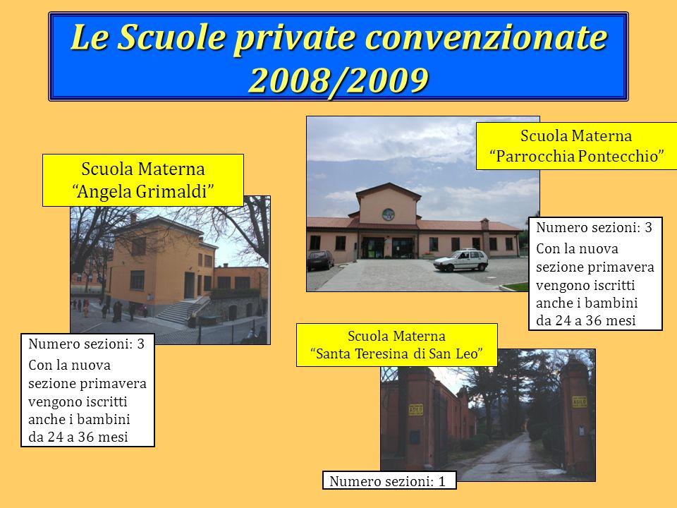 Le Scuole private convenzionate 2008/2009