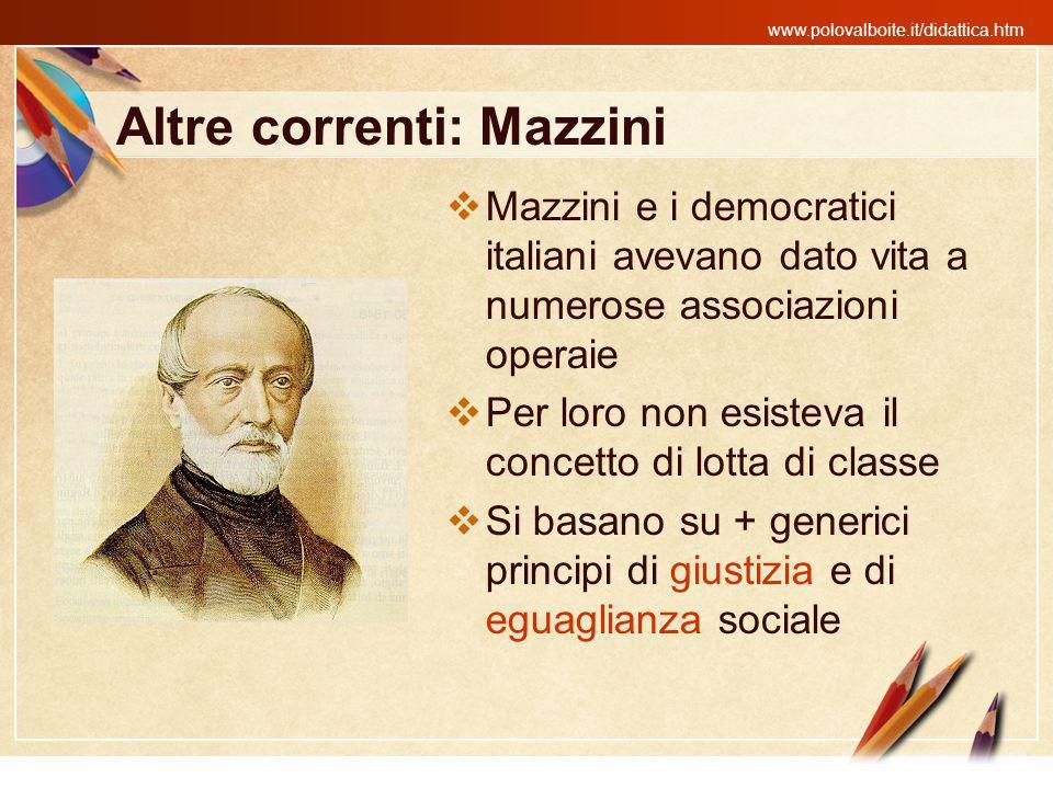 Altre correnti: Mazzini