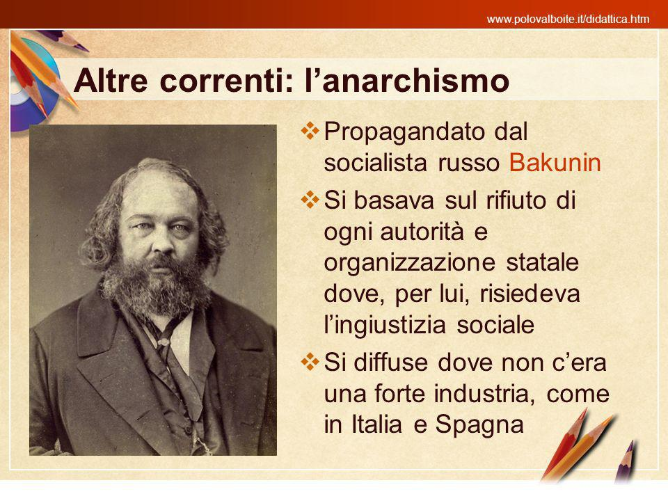 Altre correnti: l'anarchismo
