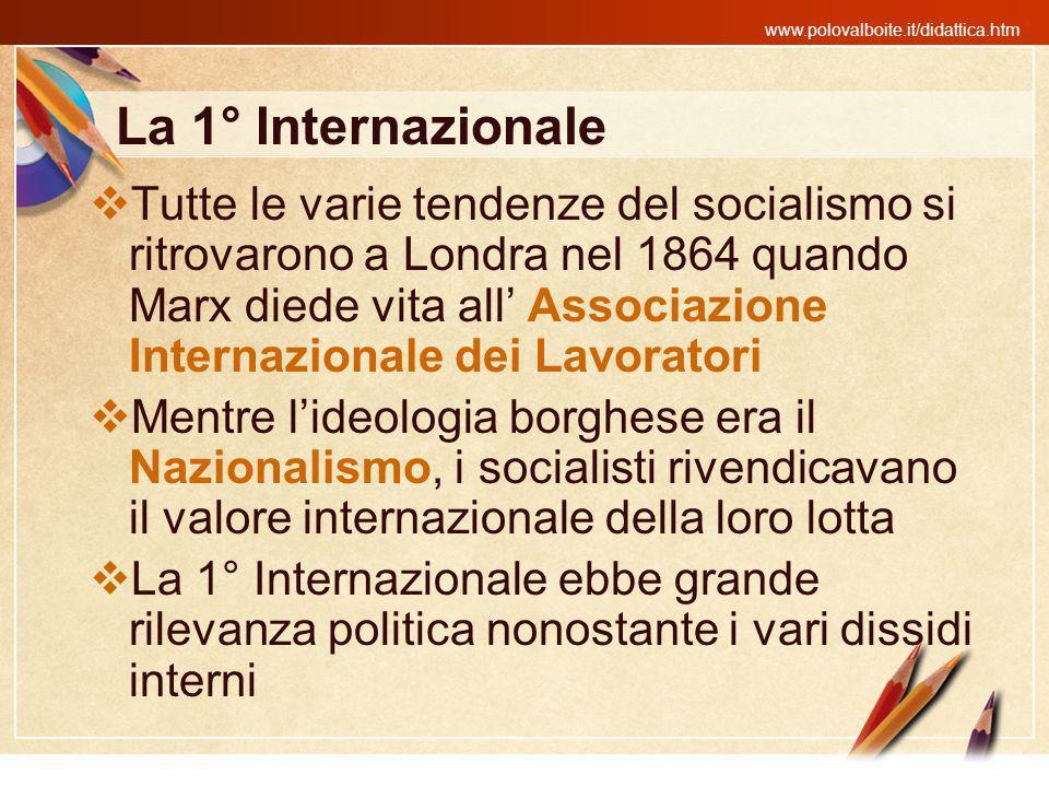 La 1° Internazionale