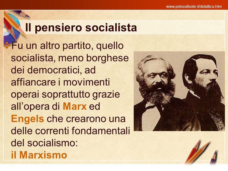 Il pensiero socialista