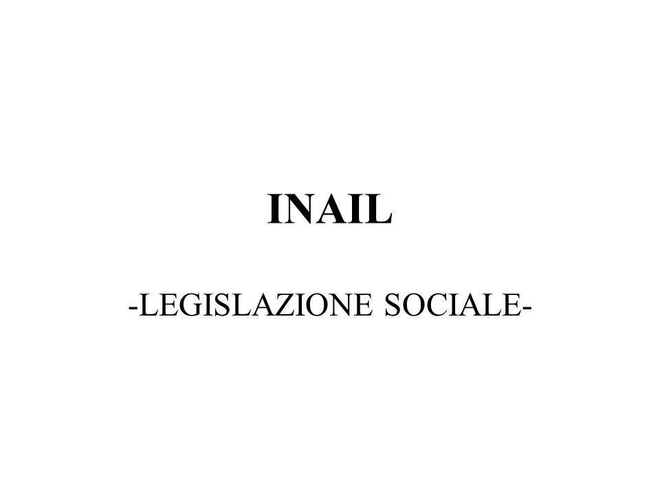 -LEGISLAZIONE SOCIALE-