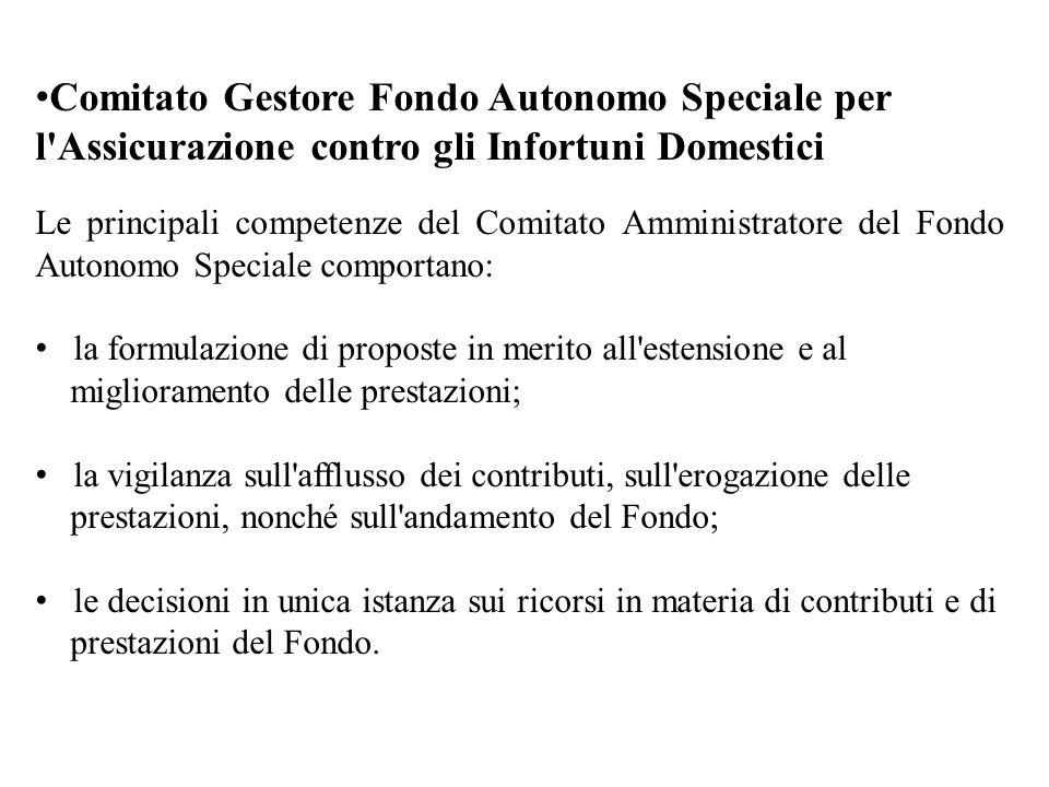 Comitato Gestore Fondo Autonomo Speciale per l Assicurazione contro gli Infortuni Domestici