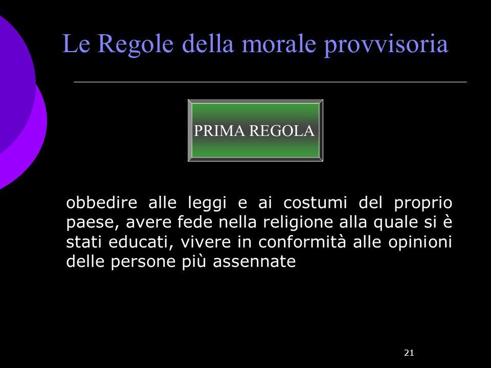 Le Regole della morale provvisoria