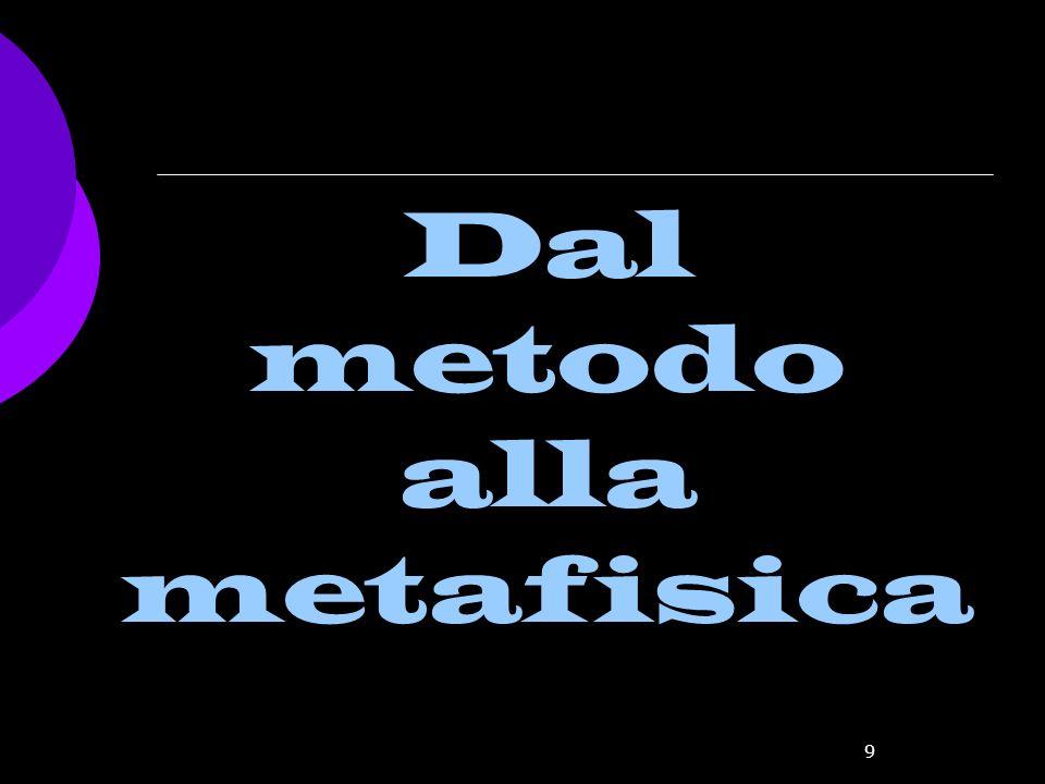 Dal metodo alla metafisica