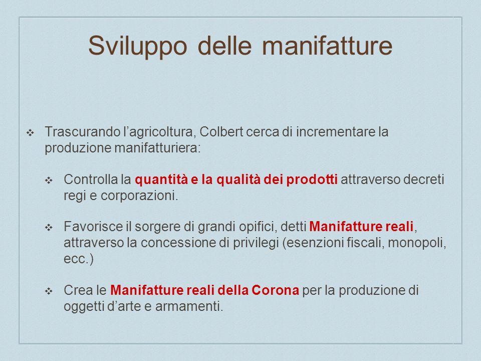 Sviluppo delle manifatture