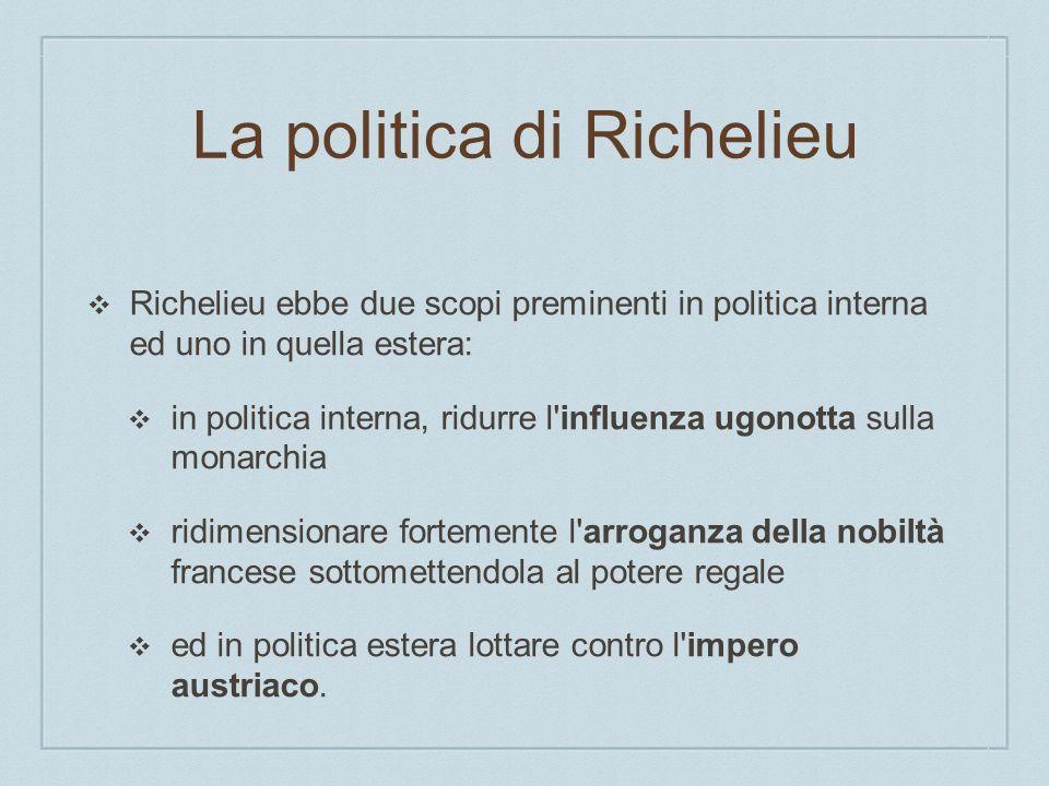 La politica di Richelieu