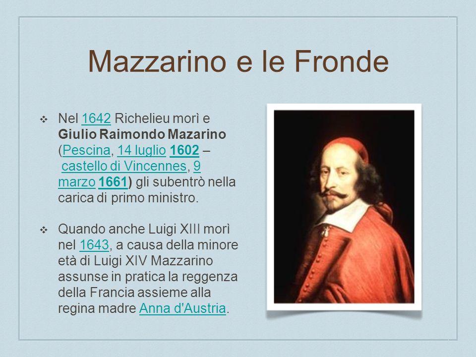 Mazzarino e le Fronde