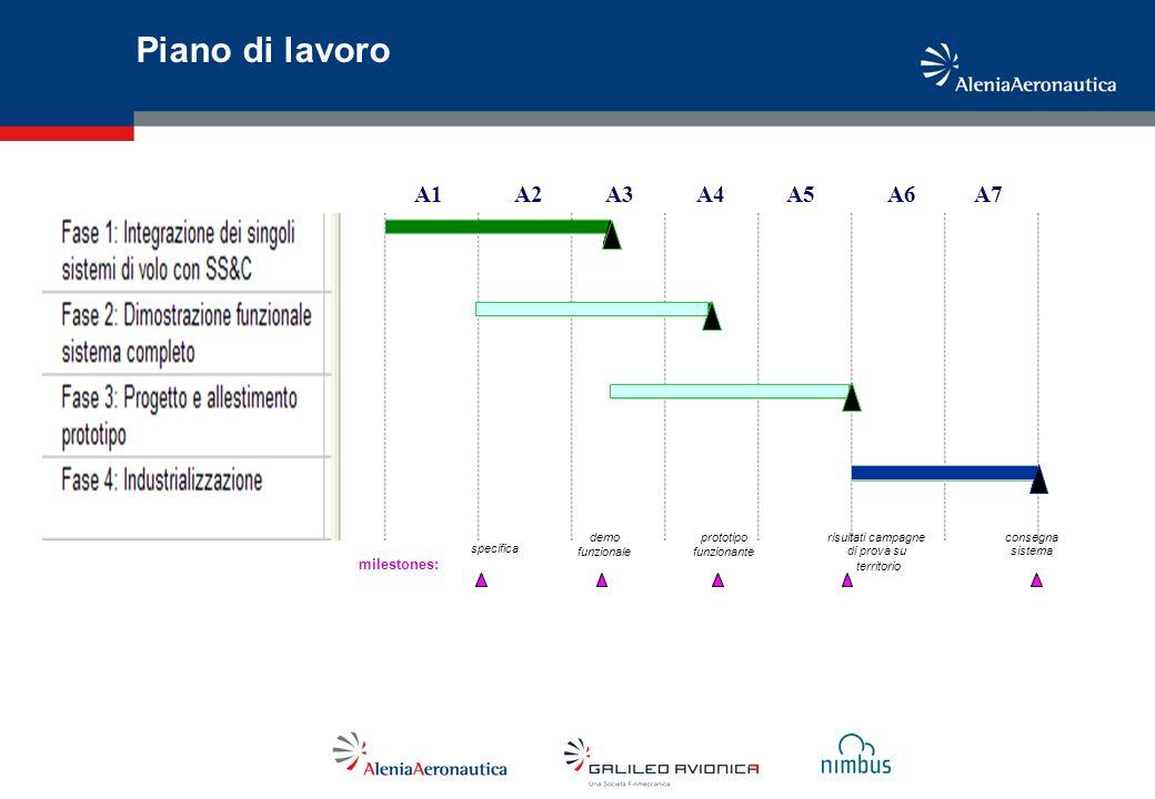Piano di lavoro A1 A2 A3 A4 A5 A6 A7 milestones: demo funzionale