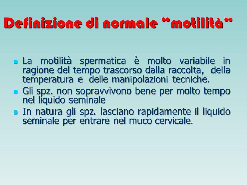 Definizione di normale motilità