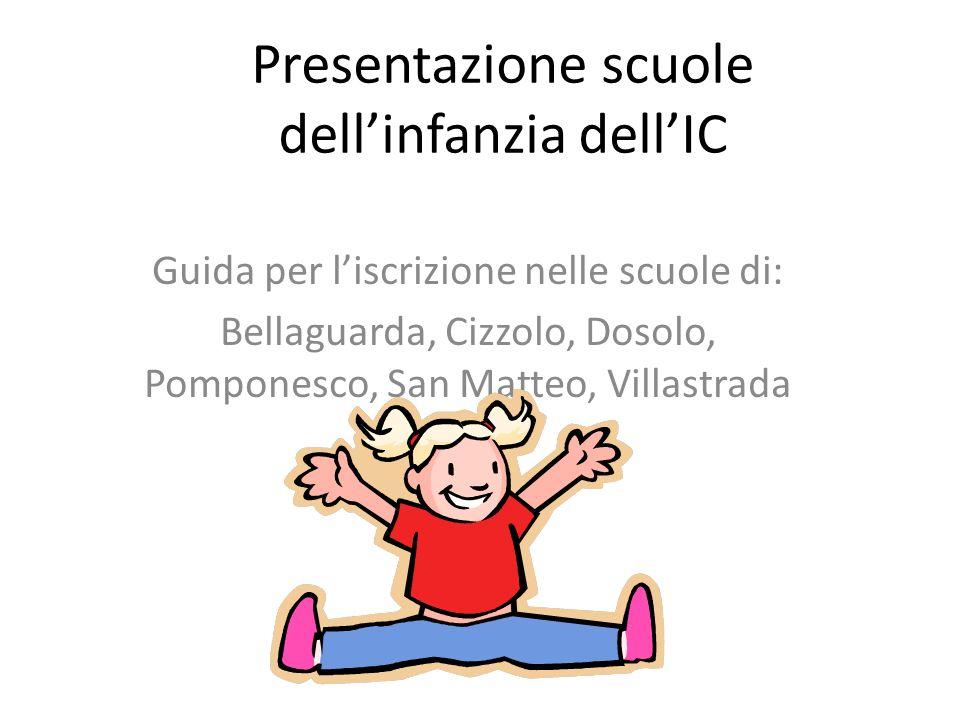 Presentazione scuole dell'infanzia dell'IC