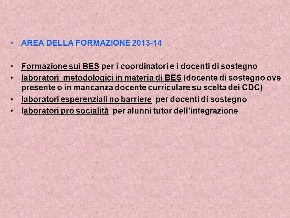 AREA DELLA FORMAZIONE 2013-14