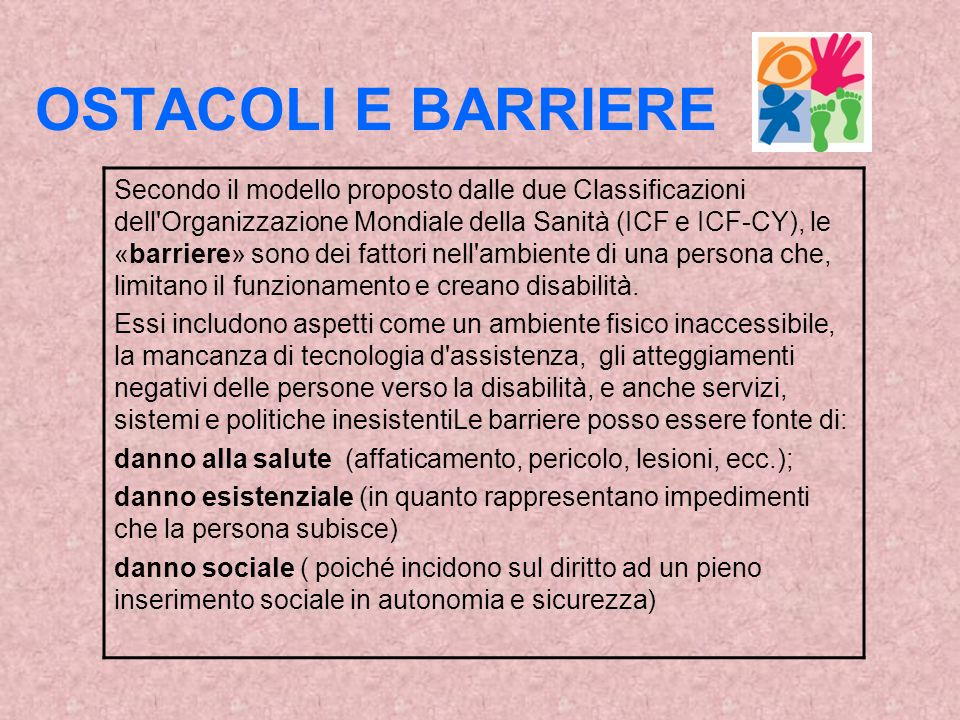 OSTACOLI E BARRIERE