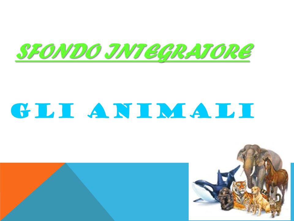 SFONDO INTEGRATORE GLI ANIMALI