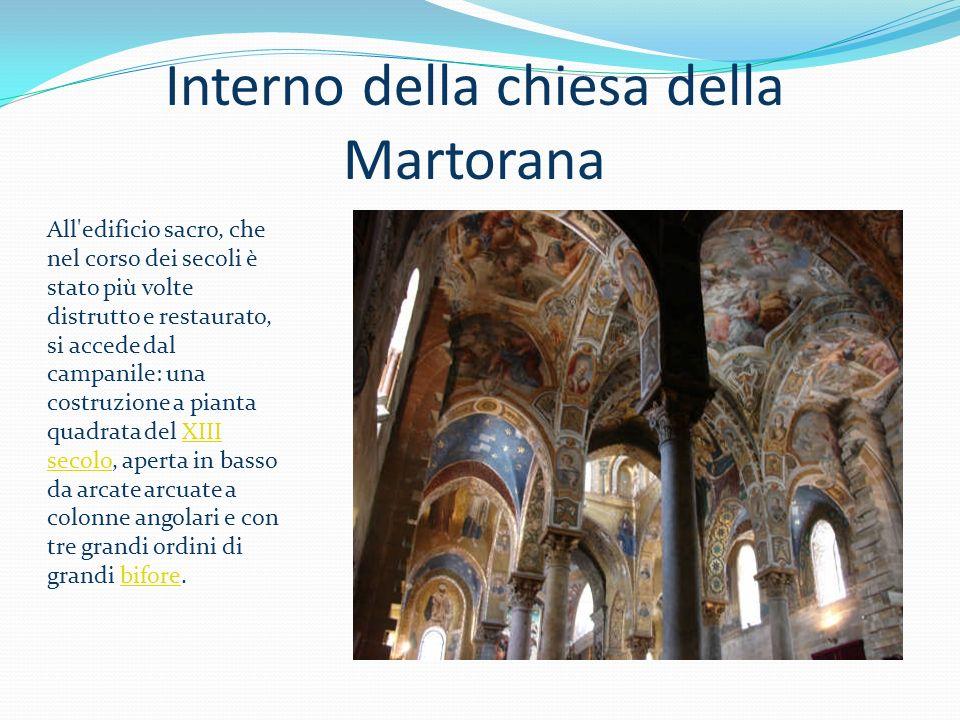 Interno della chiesa della Martorana