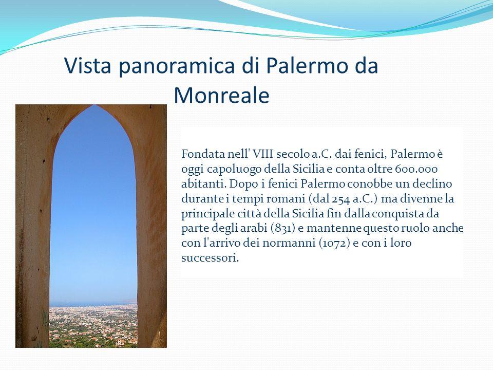 Vista panoramica di Palermo da Monreale