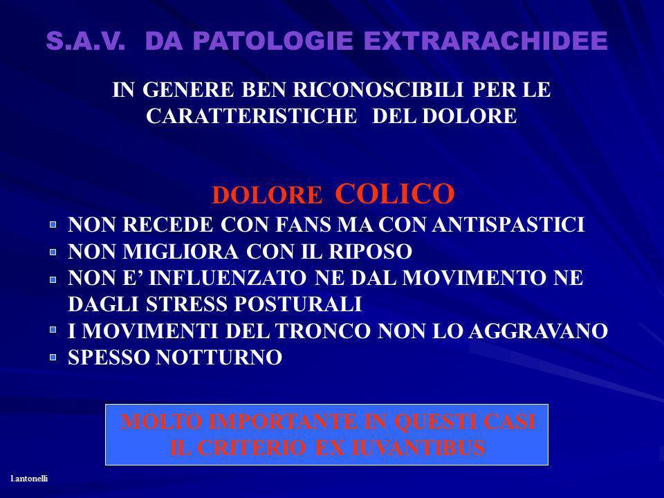 S.A.V. DA PATOLOGIE EXTRARACHIDEE