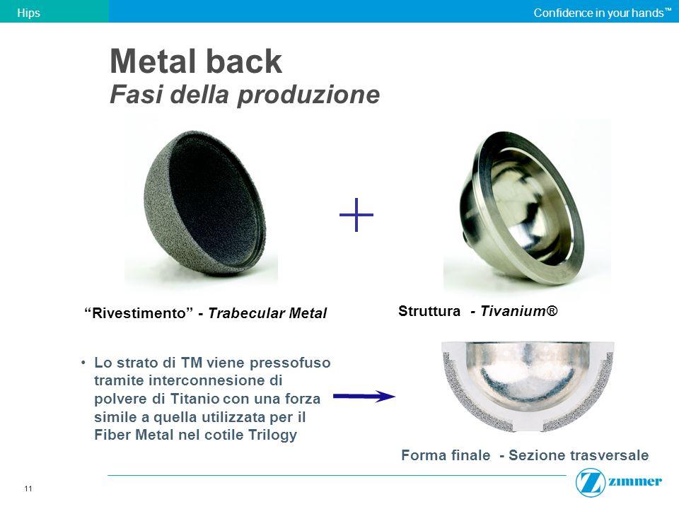 Metal back Fasi della produzione