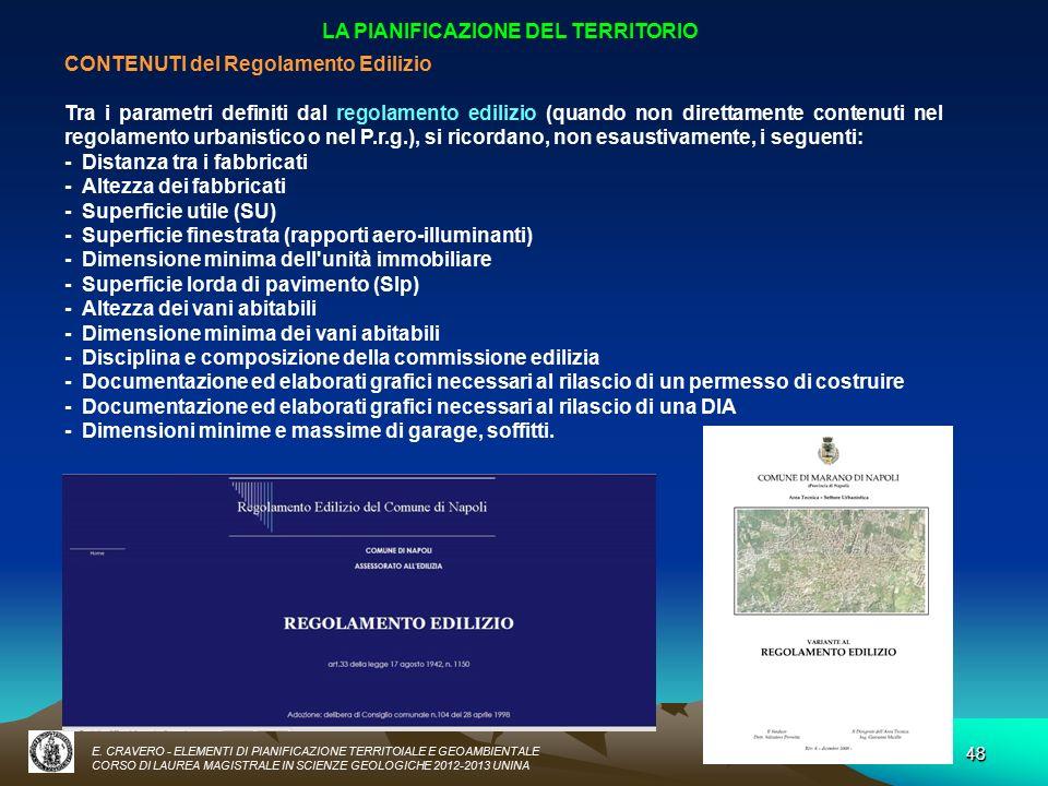 Elementi di pianificazione territoriale e geoambientale for Software di pianificazione del garage