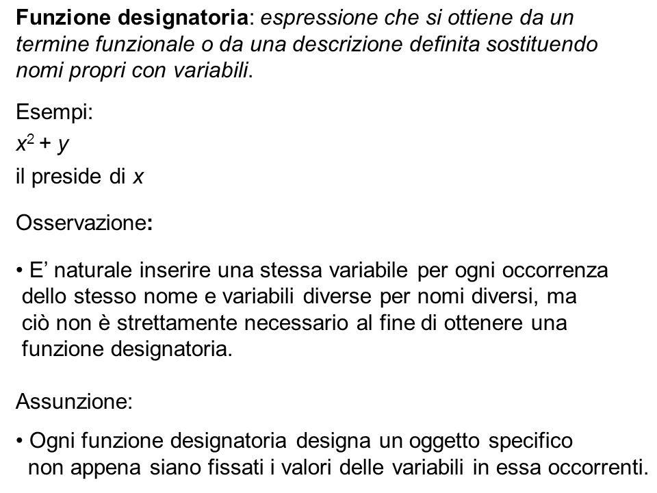 Funzione designatoria: espressione che si ottiene da un