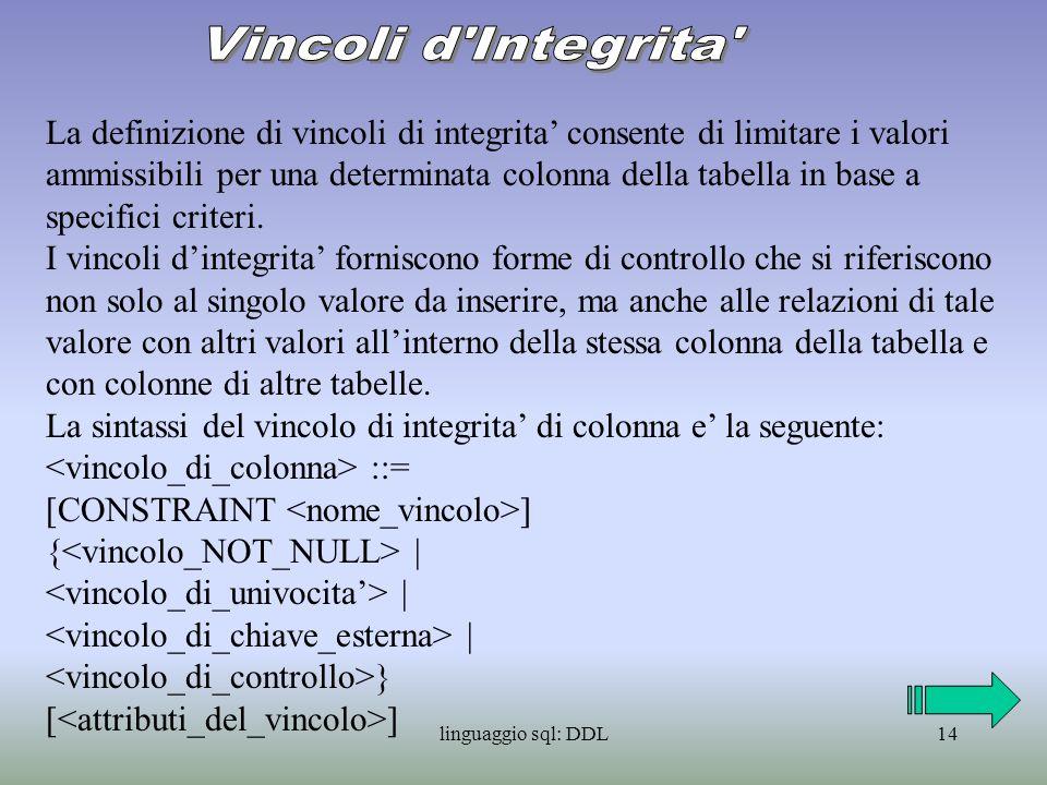 Vincoli d Integrita