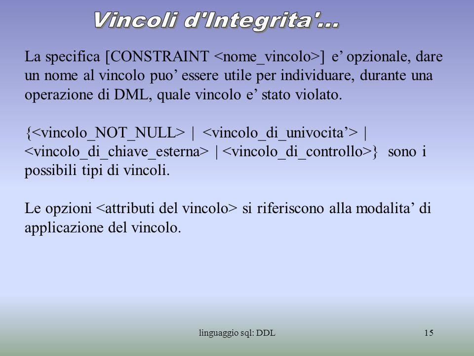 Vincoli d Integrita ...