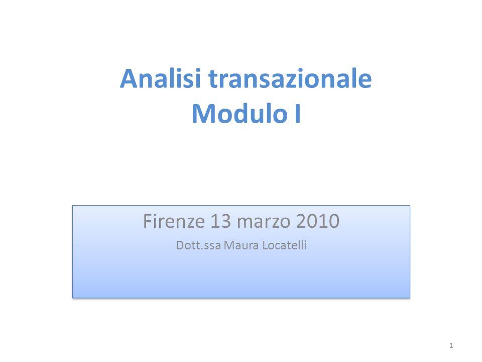 Analisi transazionale Modulo I