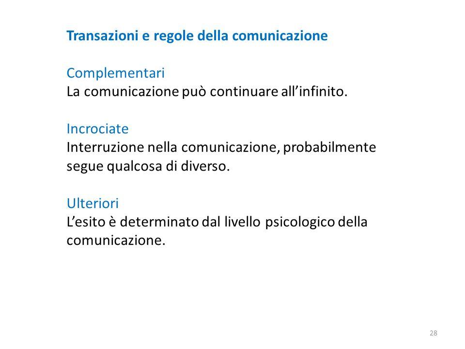 Transazioni e regole della comunicazione
